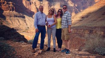 """Brittany Maynard and her family tick off the last item on her """"Bucket List"""",...the Grand Canyon."""