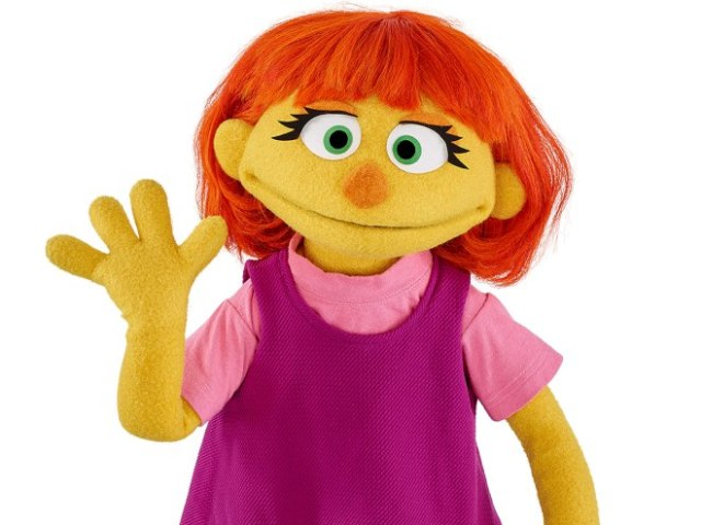 Julia muppet Credit: Sesame Workshop