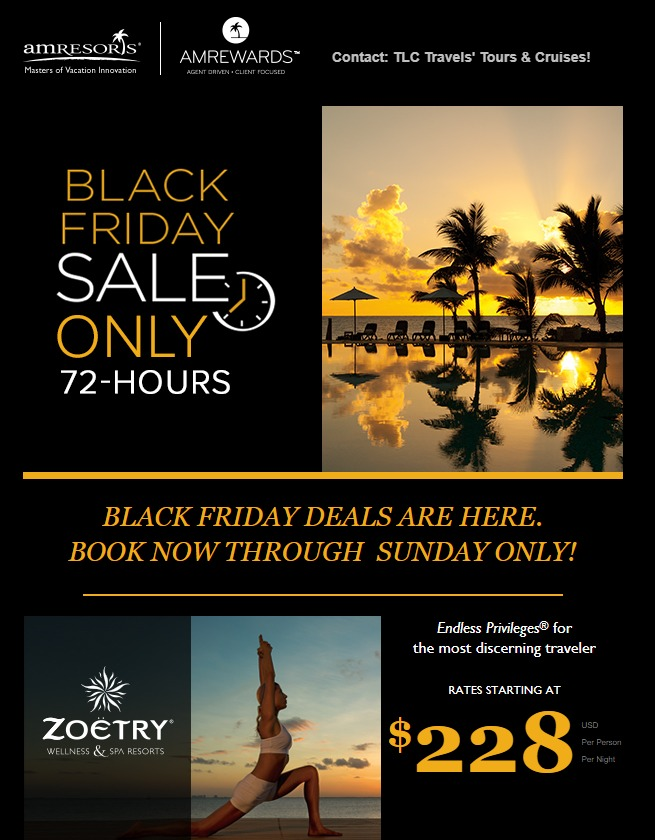 AMResorts' Black Friday Sale is on NOW!