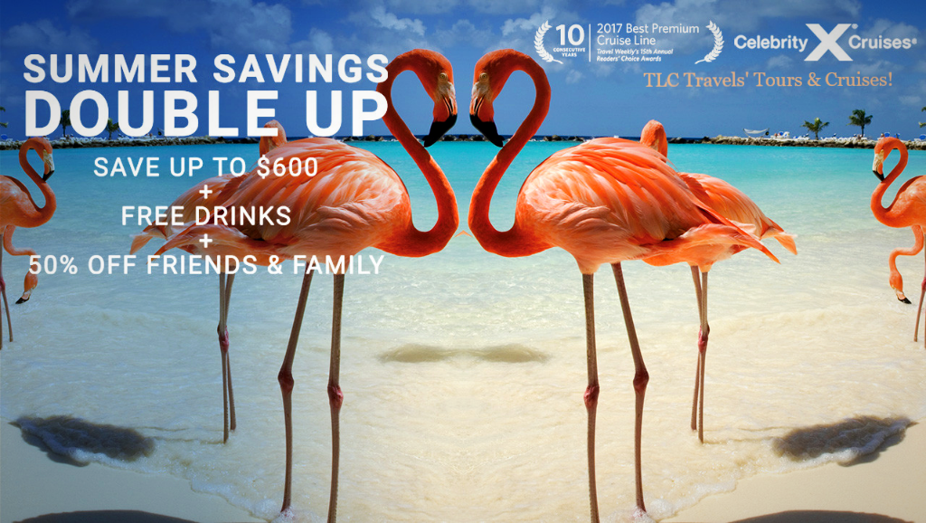 Celebrity Cruises' Summer Savings Double Up Sale!