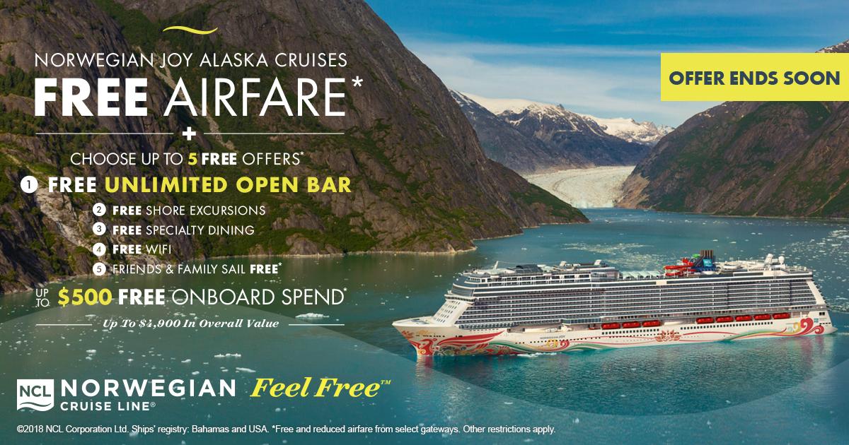 Free Airfare to Alaska Courtesy of Norwegian Cruise Line